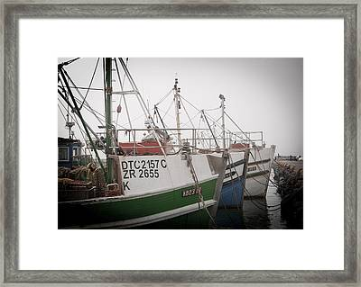 Fishing Boats Framed Print by Tom Hudson
