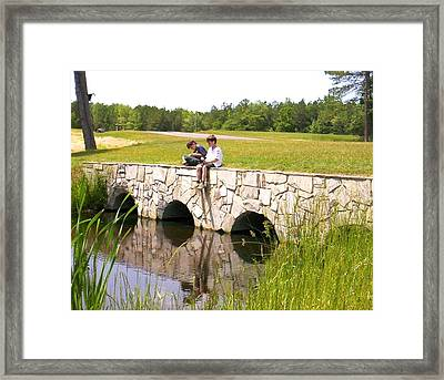 Fishing Framed Print by Bonnie Clark Weatherford