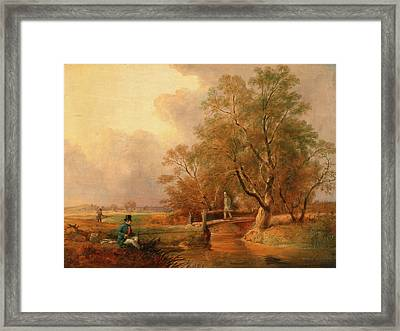 Fishing Bottom Fishing, William Jones, Active 1832-1836 Framed Print by Litz Collection