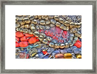 Fishing Bouys Framed Print by Heidi Smith