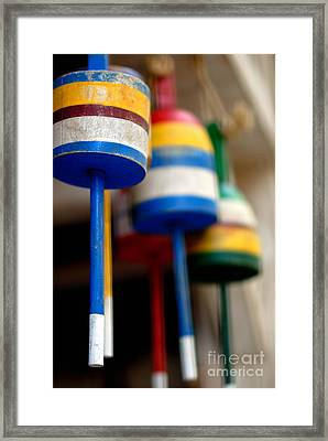Fishing Buoys Framed Print by Amy Cicconi