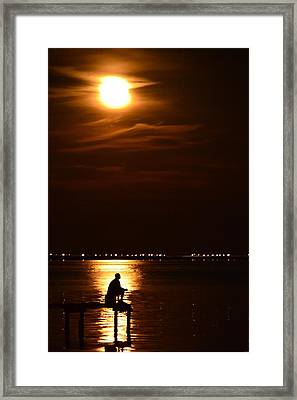 Fishing By Moonlight01 Framed Print