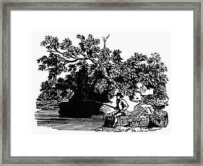 Fishing, C1800 Framed Print