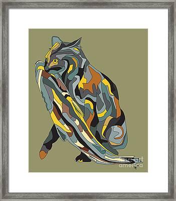 Fishing Cat Framed Print by Megan Dirsa-DuBois