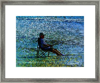 Fishing Framed Print by Claire Bull
