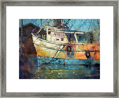 Fishing Colors Framed Print