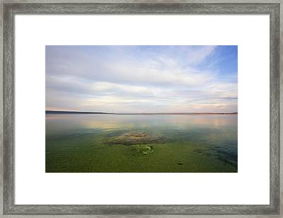 Fishing Cone At Sunset Framed Print