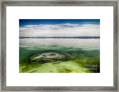 Fishing Cone Geyser Framed Print