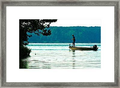 Fishing Crab Orchard Lake Framed Print