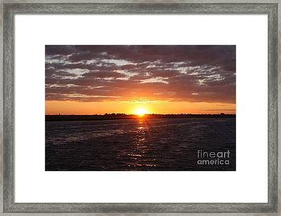 Fishing Day Sunset Framed Print by John Telfer