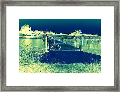 Fishing Dock Framed Print by Mickey Harkins