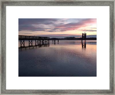Framed Print featuring the photograph Fishing Dock Pastel by Suzy Piatt