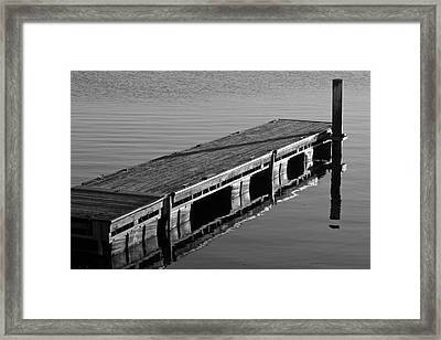 Fishing Dock Framed Print by Frozen in Time Fine Art Photography