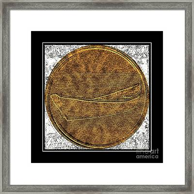 Fishing Dory - Brass Etching Framed Print by Barbara Griffin