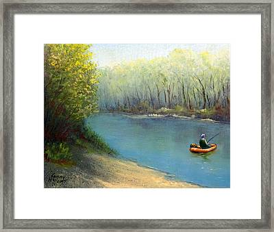 Fishing Float Framed Print by Kenny Henson