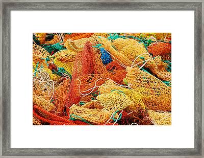 Fishing Float Nets Framed Print