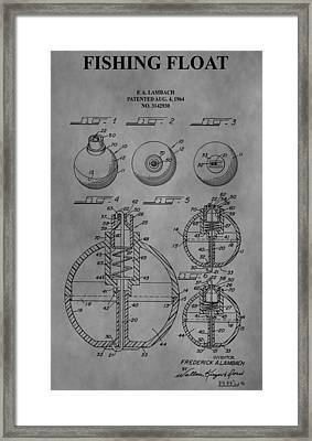 Fishing Float Patent Framed Print by Dan Sproul