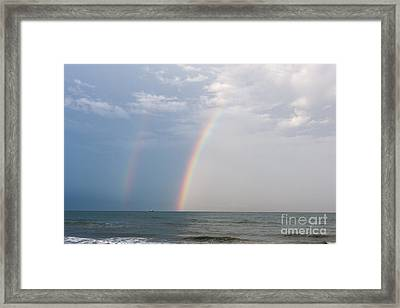 Fishing For A Pot Of Gold Framed Print