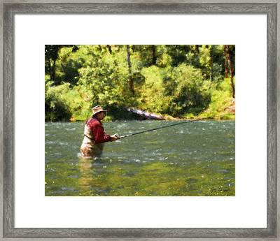 Fishing For Salom Framed Print
