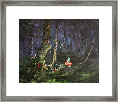 Fishing For Supper On Cannock Chase Framed Print