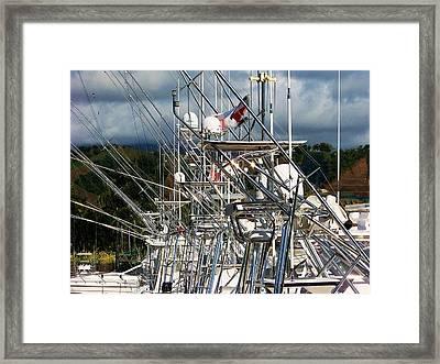 Fishing Fury Framed Print by Karen Wiles