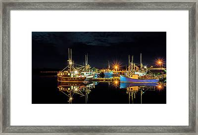 Fishing Hamlet Framed Print