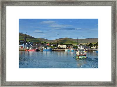 Fishing Harbour In Dingle Town, Dingle Framed Print by Panoramic Images