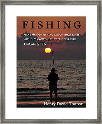 Fishing Henry David Thoreau Framed Print