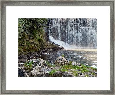 Framed Print featuring the photograph Fishing Hole by Deb Halloran