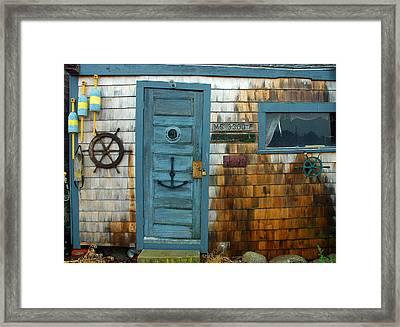 Fishing Hut At Rockport Maritime Framed Print