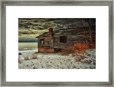 Fishing Hut Lake Superior Framed Print