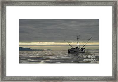 Fishing In Alaska Framed Print