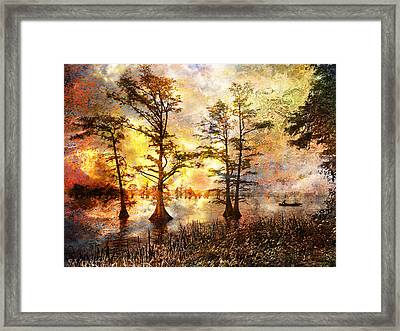 Fishing In Another World Framed Print