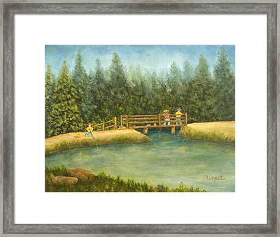 Fishing In New England Framed Print
