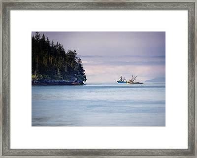 Fishing In Prince William Sound Framed Print by Vicki Jauron