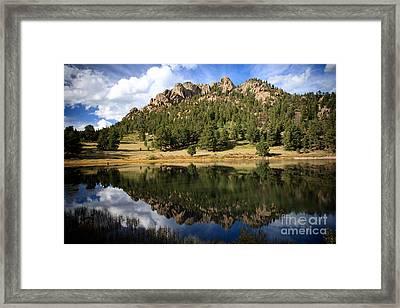 Fishing In Solitude Framed Print