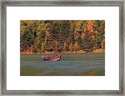 Fishing In The Kenai River, Kenai Framed Print
