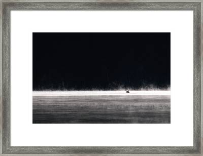 Fishing In The Mist Framed Print by Brandon Smith