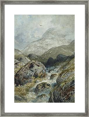 Fishing In The Mountains Framed Print