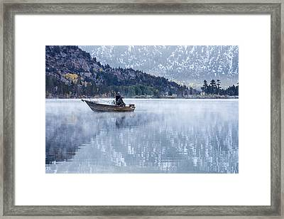 Fishing Into Silver Framed Print by Priya Ghose