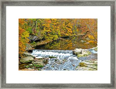 Fishing Is Relaxing Framed Print by Frozen in Time Fine Art Photography