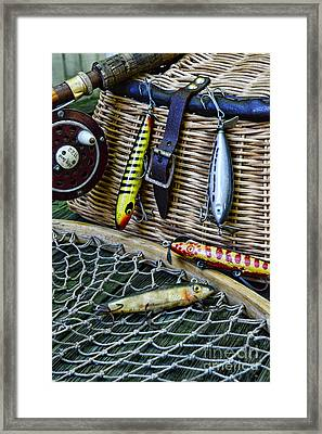Fishing - Lots Of Gear Framed Print