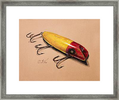 Fishing Lure Framed Print by Aaron Spong