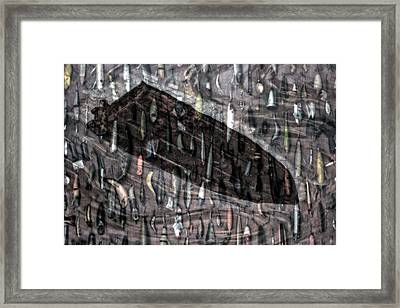 Fishing Lures Merged Image Framed Print by Thomas Woolworth