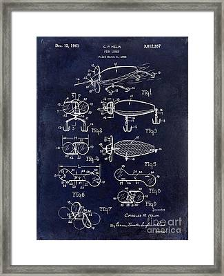 1961 Fishing Lures Patent Framed Print