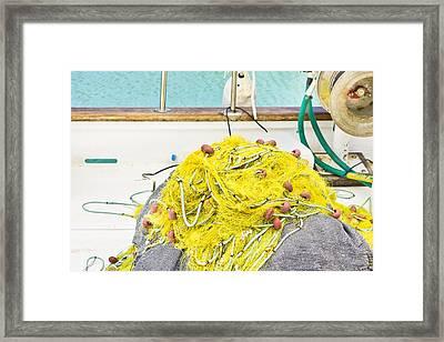 Fishing Net Framed Print by Tom Gowanlock