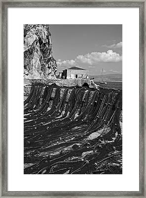 Fishing Nets In Hydra Town Framed Print by George Atsametakis