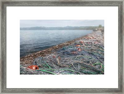 Fishing Nets To Dry Framed Print by Leonardo Marangi