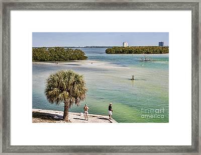Fishing On Estero Bay Near Fort Myers Beach Florida Framed Print by William Kuta