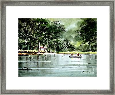 Fishing On Lazy Days - Aucilla River Florida Framed Print